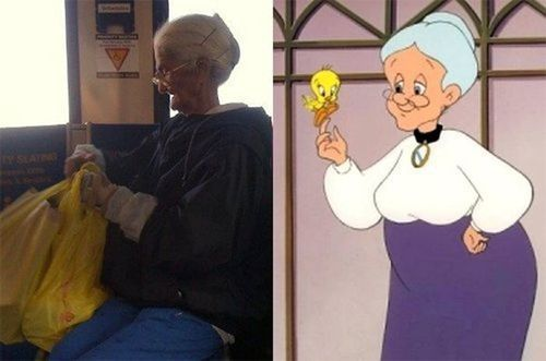real-life-cartoon-character-tweety-grandma